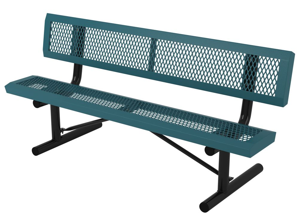 Webcoat Infinity Style Expanded Metal Park Bench Aaa State Of Play