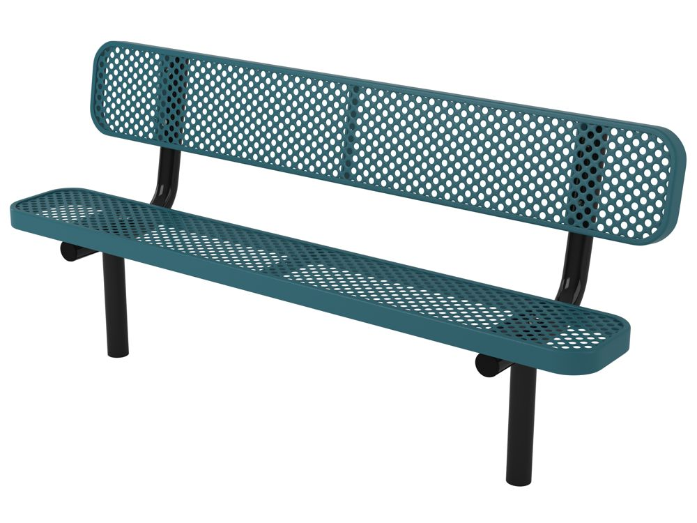 Webcoat Perforated Metal Ultraleisure Style Park Bench Aaa State Of Play