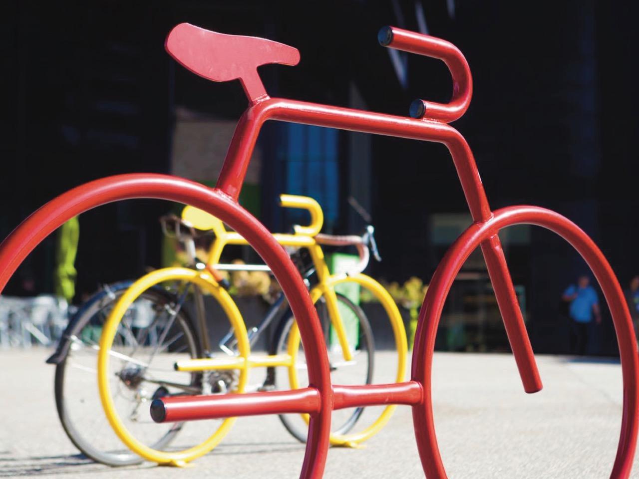 Bike Shaped Bicycle Rack 4 Bike Capacity By Dero Aaa