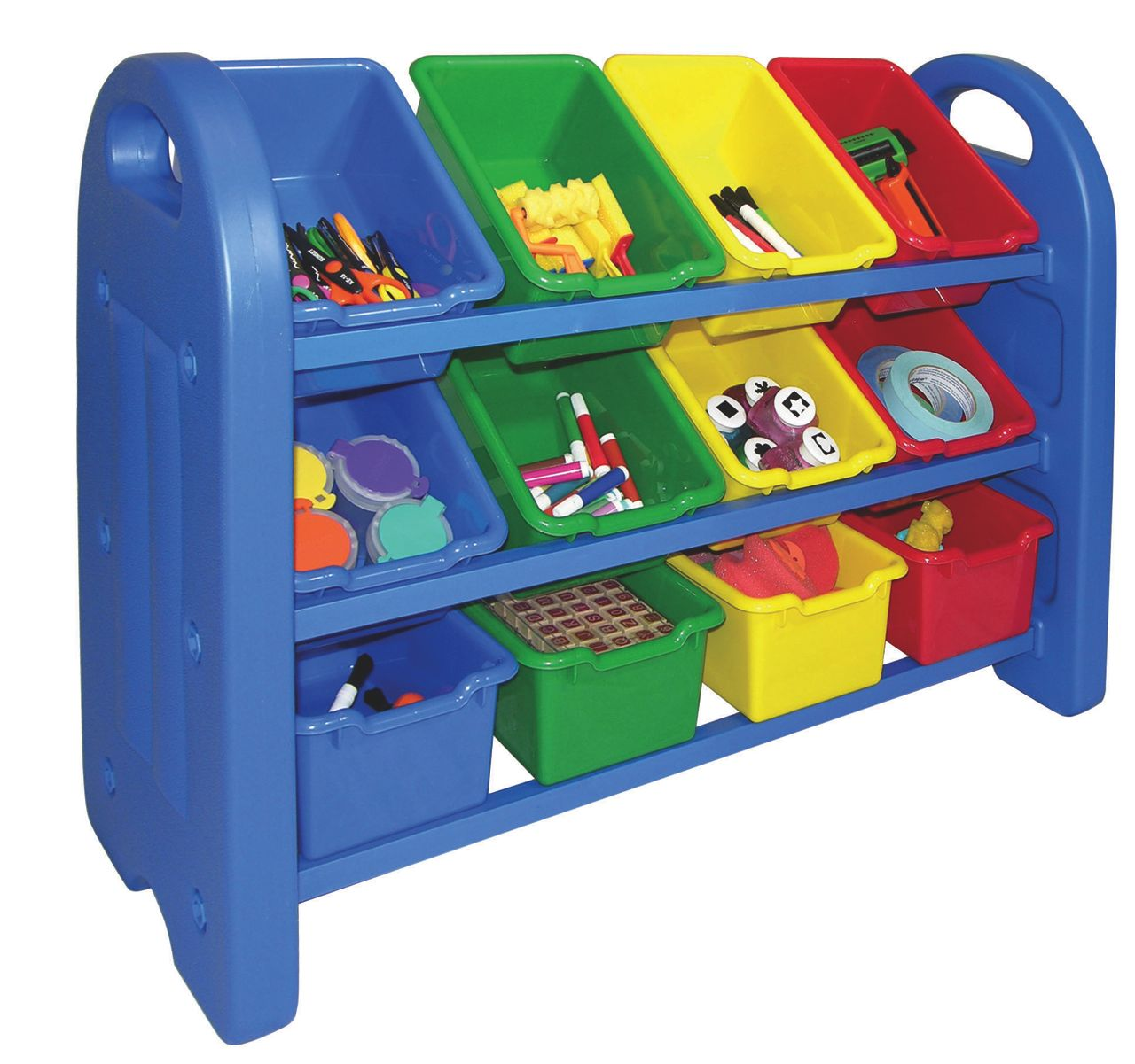 ecr4kids 3 tier storage organizer with bins aaa state of play. Black Bedroom Furniture Sets. Home Design Ideas