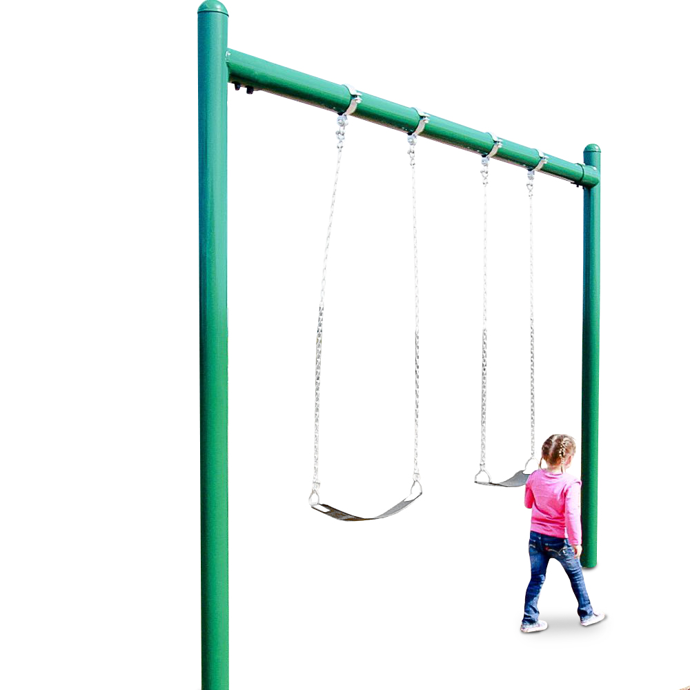Elite series 5 inch single post swing 8 foot by playground for Swing set frame only