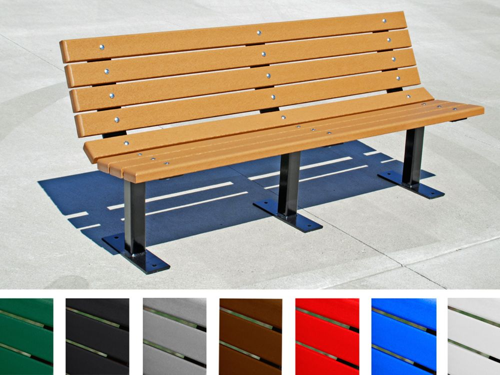 Contour Bench By Jayhawk Plastics Outdoor Sitting Benches For Recreation Aaa State Of Play
