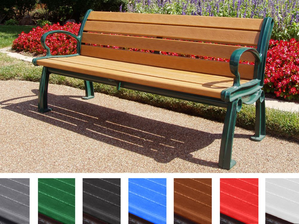 Heritage Bench By Jayhawk Plastics Benches For Outdoors At Trails And Parks Aaa State Of Play