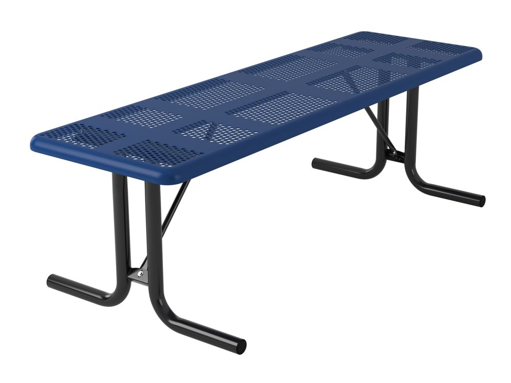 Portable Play Table : Utility perforated rectangular portable table without