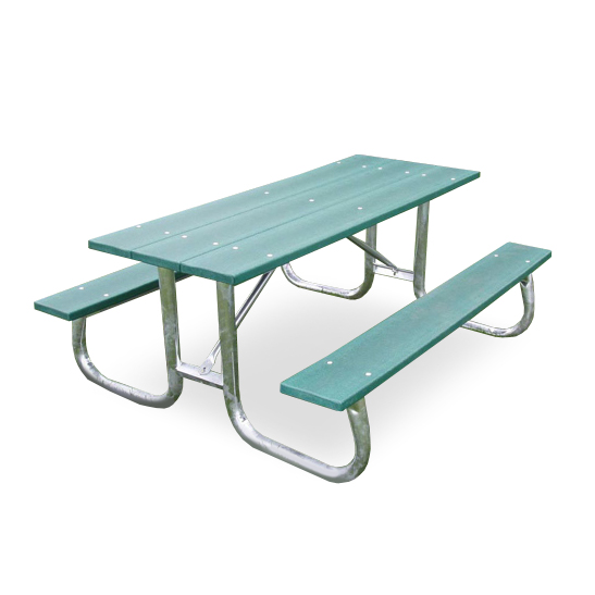 Recycled Plastic Galvanized Frame Picnic Table By Jayhawk