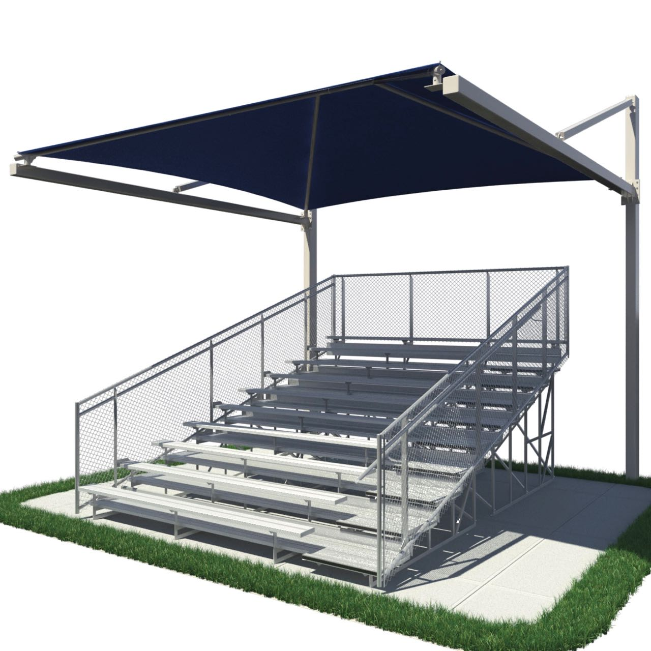 Bleacher Shades Suspended Cantilever Design From Aaa